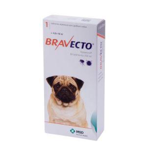 Бравекто (Bravecto) таблетки от блох и клещей для собак весом от 4,5 до 10 кг, 250 мг