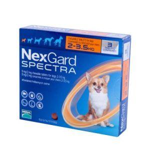 Нексгард Спектра (NexGard Spectra) таблетки от блох и клещей для собак весом 2-3,5 кг, 3 таб