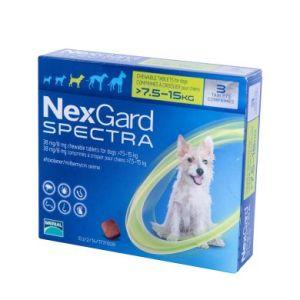 Нексгард Спектра (NexGard Spectra) таблетки от блох и клещей для собак весом 7,5-15 кг, 3 таб
