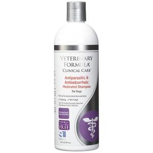 Veterinary Formula Clinical Care Antiparasitic & Antiseborrheic Medicated Shampoo ВЕТЕРИНАРНАЯ ФОРМУЛА АНТИПАРАЗИТАРНЫЙ и АНТИСЕБОРЕЙНЫЙ ШАМПУНЬ для собак