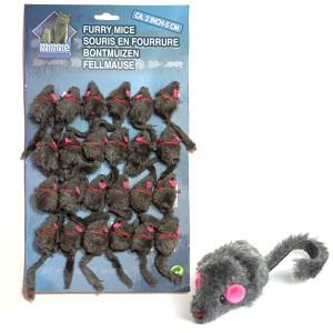 Karlie-Flamingo Furry Mouse Grey КАРЛИ-ФЛАМИНГО игрушка для кошек