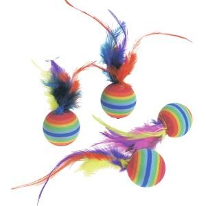 Karlie-Flamingo (КАРЛИ-ФЛАМИНГО) RAINBOW BALLS яркая игрушка для кошек