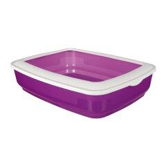 Туалет для кошек Trixie с бортиком «Cisco» 38 x 11 x 50 см (пластик, цвета в ассортименте)