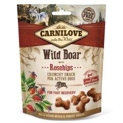 Лакомство для собак Carnilove Wild Boar with Rosehips 200 г (для быстрого восстановления)