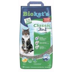 Наполнитель туалета для кошек Biokat's Classic Fresh 3in1 10 л (бентонитовый)