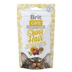 Лакомство для кошек Brit Care Functional Snack Shiny Hair 50 г (для кожи и шерсти)