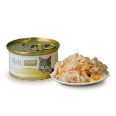 Влажный корм для кошек Brit Care Cat Chicken Breast & Cheese 80 г (куриная грудка и сыр)