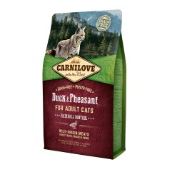 Сухой корм для выведения шерсти у кошек Carnilove Cat Duck & Pheasant — Hairball Controll 2 кг (утка и фазан)