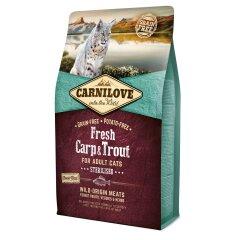 Сухой корм для стерилизованных кошек Carnilove Fresh Carp & Trout 2 кг (рыба)