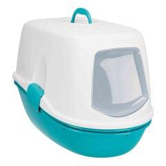 Туалет для кошек Trixie закрытый «Berto Top» 39 x 42 x 59 см (пластик, цвет: бирюзовый)