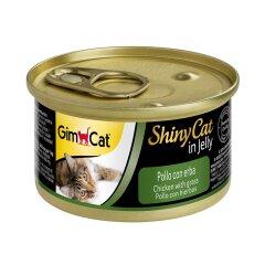 Влажный корм для кошек GimCat Shiny Cat 70 г (курица и трава)
