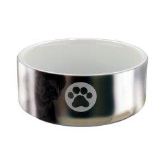 Миска керамическая Trixie 300 мл / 12 см (серебристая)