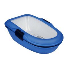 Туалет для кошек Trixie с сеткой «Berto» 39 x 22 x 59 см (пластик, цвет: синий)