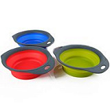 DEXAS Collapsible Pet Bowl Инновационная миска для кормления БОЛЬШАЯ