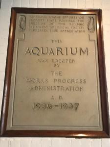Aquarium WPA plaque