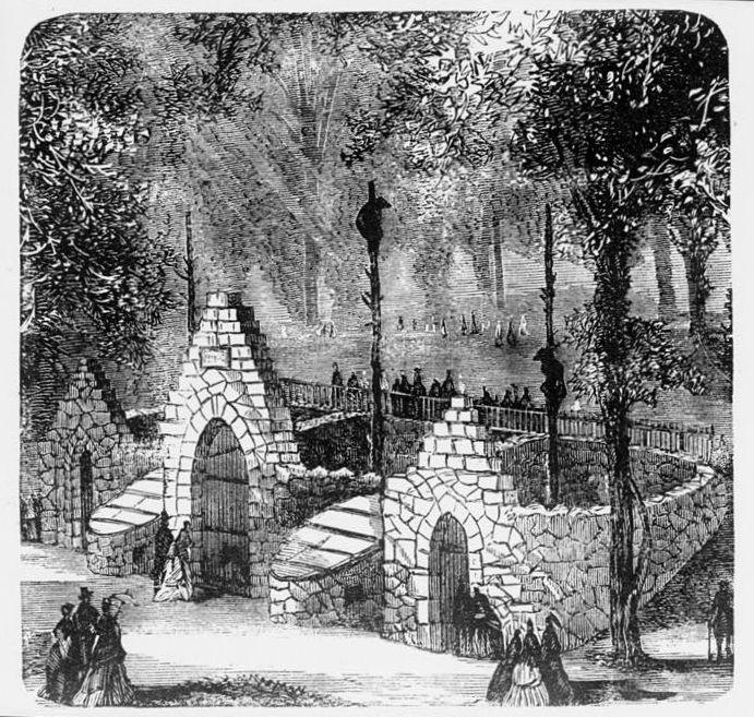 The original bear pits, 1876. Source: Wikimedia