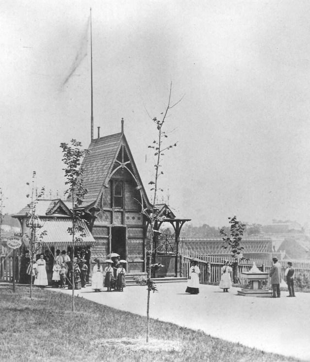 The Philadelphia Zoo on opening day, July 1, 1874. Source: philadelphiazoo.org