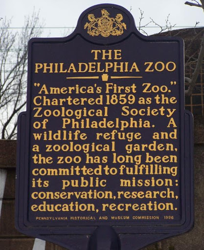 Philadelphia Zoo sign. Source: waymarking.com