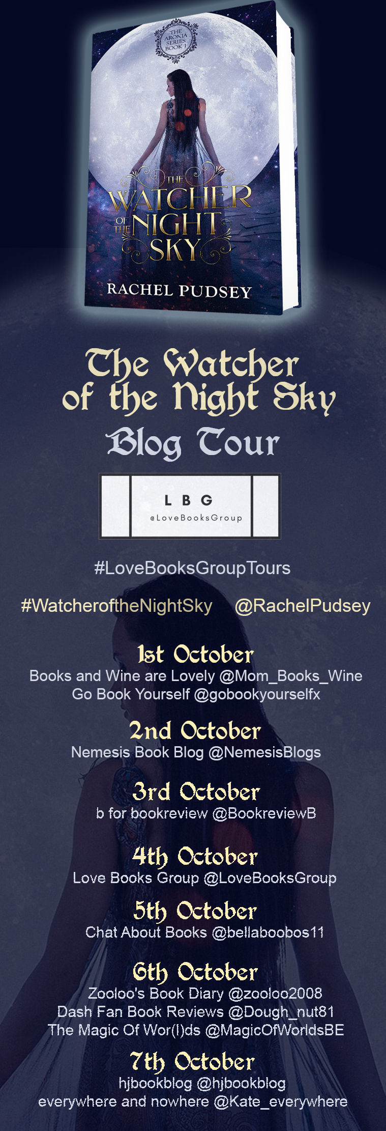 #Excerpt from The Watcher of the Night Sky by Rachel Pudsey @RachelPudsey   #WatcheroftheNightSky #LoveBooksGroupTours