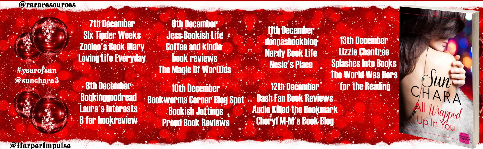 #BookReview of All Wrapped up in You by Sun Chara @sunchara3 @rararesources @HarperImpulse #giveaway
