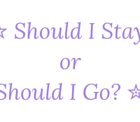 Should I Stay Or Should I Go? 15th June 2019 #Goodreadsclearout