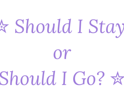 Should I Stay or Should I Go? 30th March 2019 #Goodreadsclearout