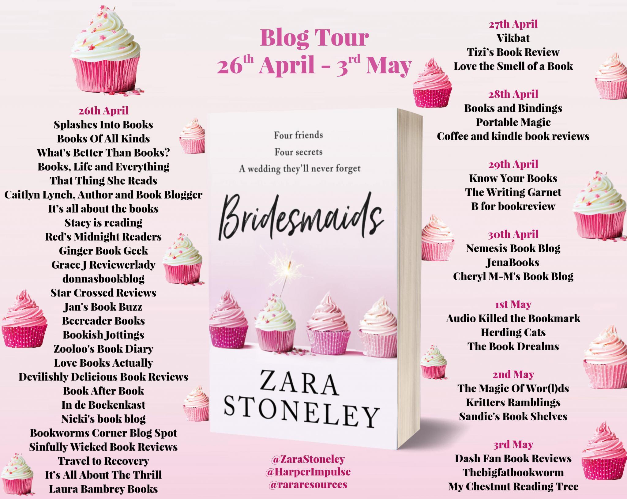 #BookReview of Bridesmaids by Zara Stoneley @zarastoneley @harperimpulse @rararesources #netgalley #bridesmaids