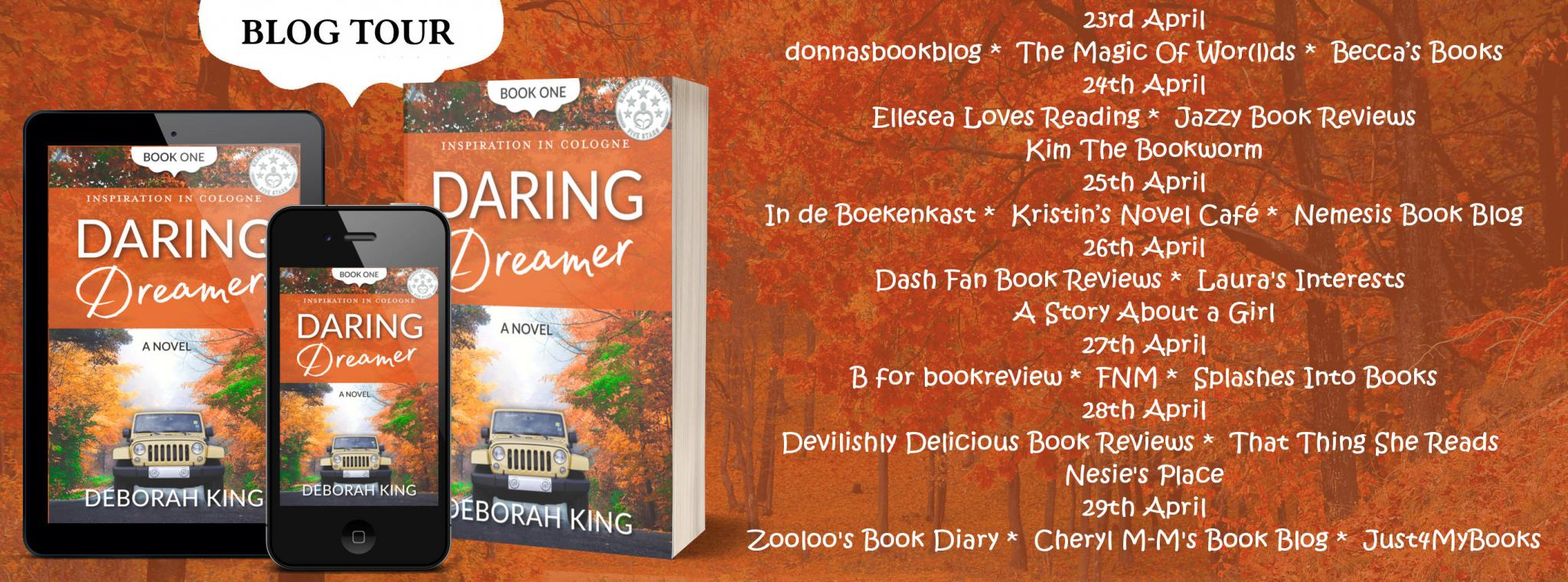 #BookReview of Daring Dreamer by Deborah King @dkingnovels @rararesources #giveaway