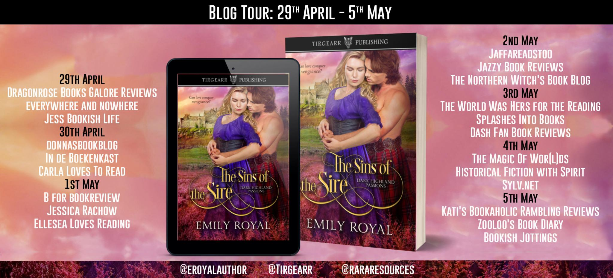 #BookBlitz of The Sins of the Sire by Emily Royal @eroyalauthor @rararesources @tirgearr #giveaway