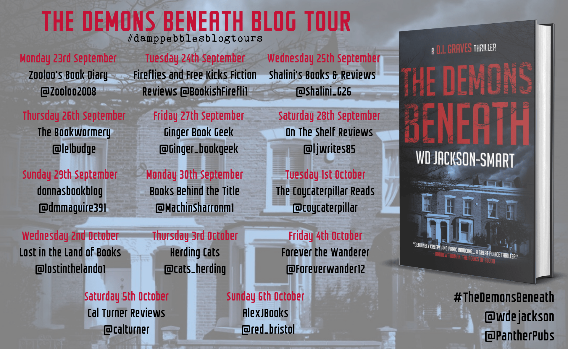 #BookReview of The Demon Beneath by W.D. Jackson-Smart @wdejackson @damppebbles @PantherPubs #TheDemonBeneath