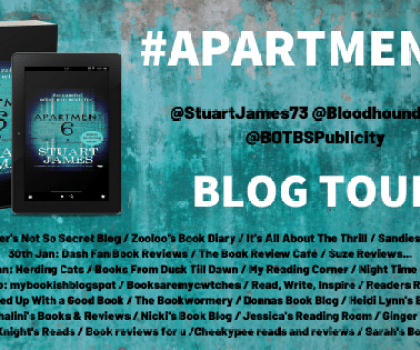 Apartment 6 by Stuart James @StuartJames73 @BOTBSPublicity @bloodhoundbook #BookReview #PublicationDay