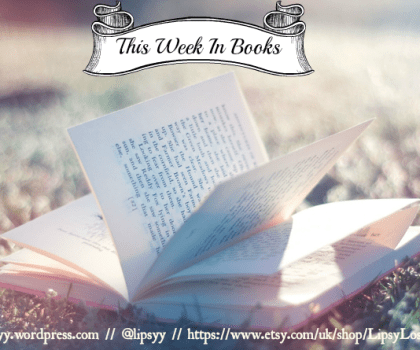 This Week In Books – 25th November 2020 #ThisWeekInBooks