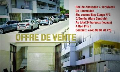 RDC : «Rez-de-chaussée + 1er niveau» de cet immeuble mis en vente à bon prix ! 5