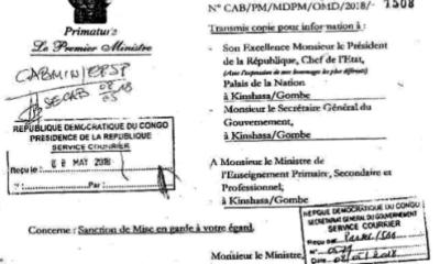 """RDC : Tshibala sanctionne l'indiscipline """"caractérisée"""" de Gaston Musemena ! 1"""