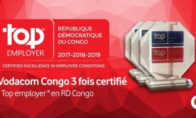 RDC : Vodacom troisième fois primée «Top Employer» 5