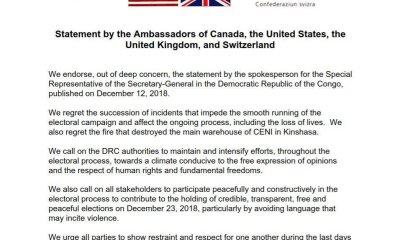 RDC : violence pré-électorale, les partenaires internationaux expriment leurs vives inquiétudes ! 4