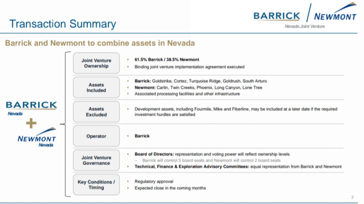 USA : Barrick-Newmont, la joint-venture historique de l'or au Nevada ! 3