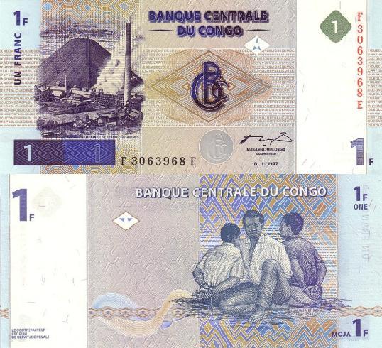 RDC : 17 mai 1997 marque l'avènement du franc congolais ! 1