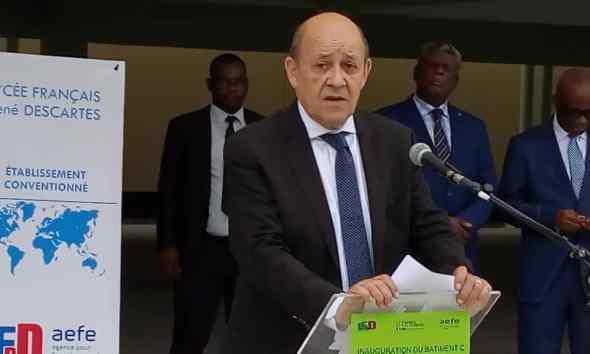 Kinshasa : Le Drian inaugure le nouveau bâtiment du Lycée Français Descartes 44