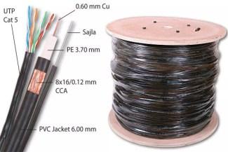 Koaksijalni kabl RG59 + UTP Cat 5 + sajla