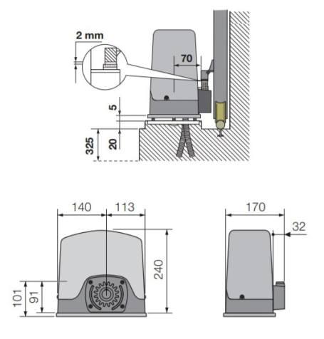 Cardin motor kapije SLACEFAST