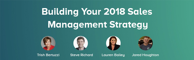 Building Your 2018 Sales Management Strategy