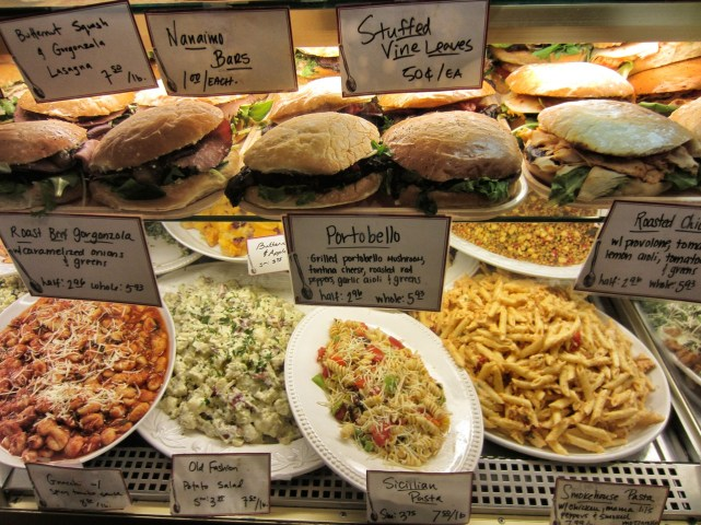 Salads and sandwiches at Michou