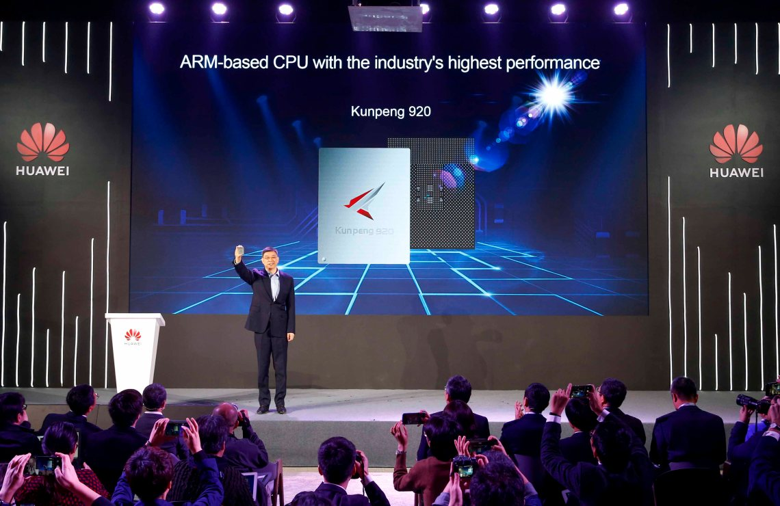 huawei unveils industry's highest-performance arm-based cpu called kunpeng 920