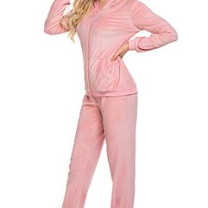 Hotouch Pink Sweatsuits Set Velour Full Zip Hoodie Tracksuits Zoomer Zones