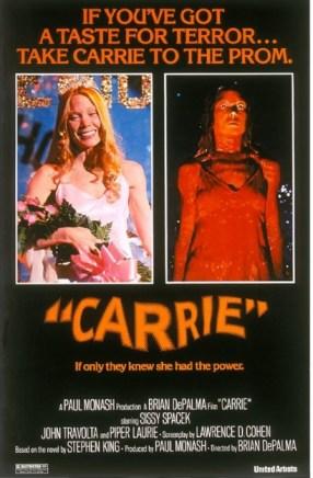 Carrie Brian de la Palma 1976 poster