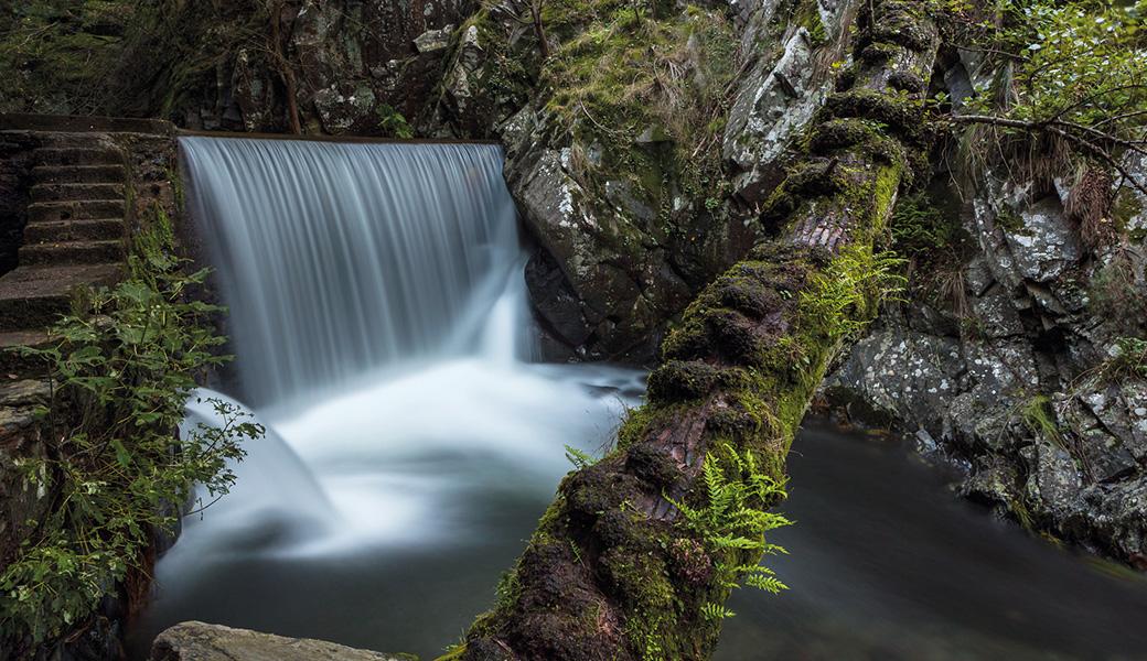 Fotografar água em cascatas