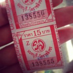 River boat ticket - finding beauty in the ordinary