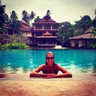 New fancy hotel!!! Best pool ever until a little German kid pooped in the pool.