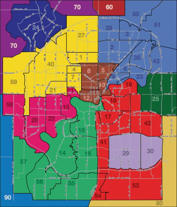 Edmonton Area MLS Zone Map